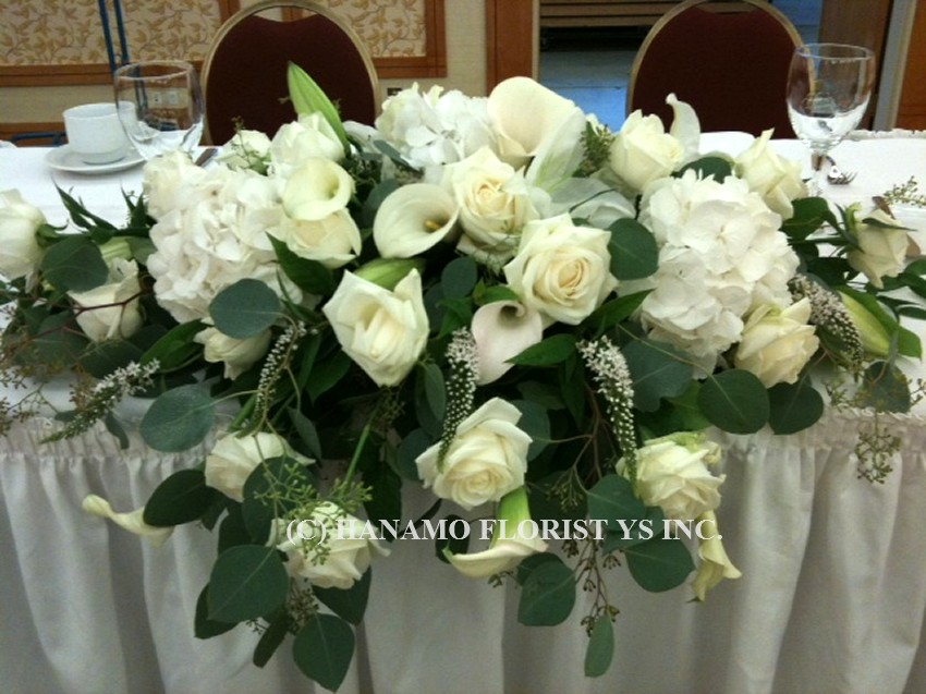 WEDO819 Elegant Head Table Arrangement 3 feet wide